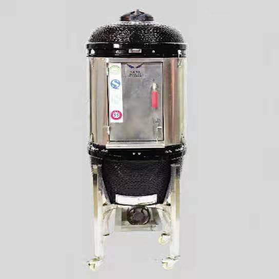 小型子弹头果木烤炉 木炭两用烤炉  可烤制6-8份牛扒  无需用电 无需用液化气 无需用天然气