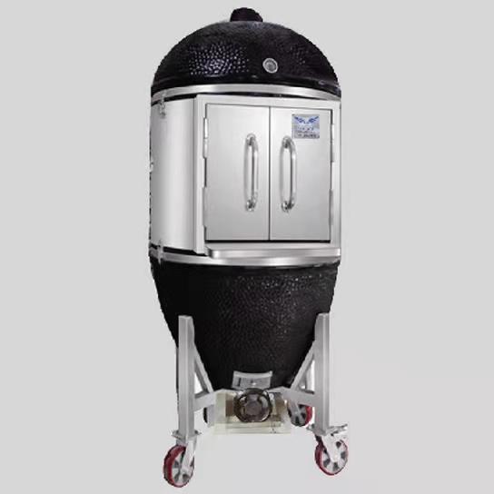 大型子弹头果木烤炉 木炭两用烤炉  可烤制6-8份牛扒  无需用电 无需用液化气